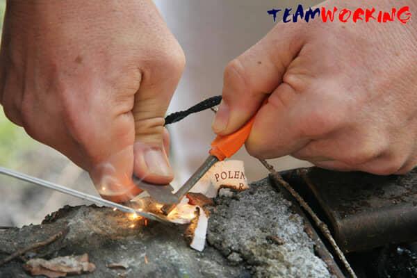 Imparare ad accendere il fuoco